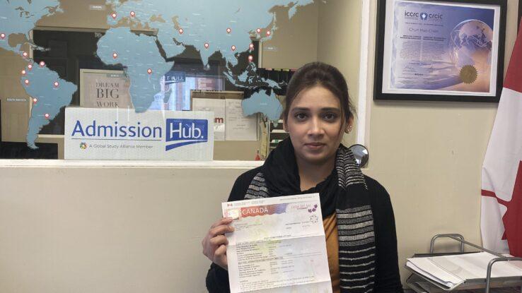 Visitor got her Study Permit