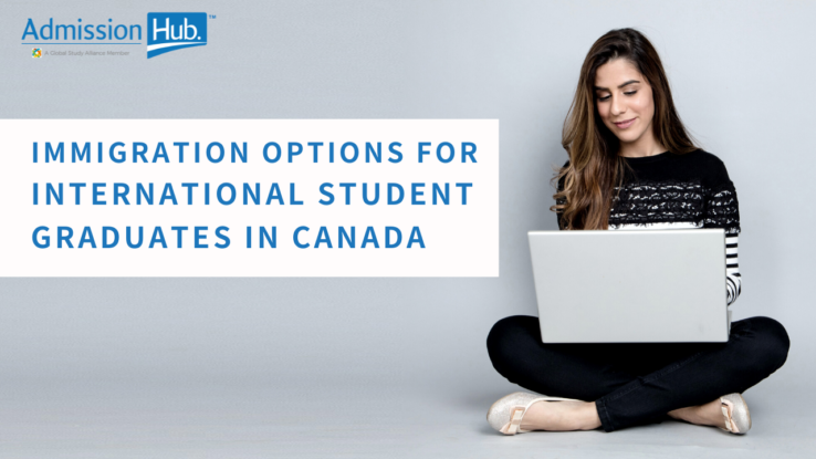 student looking in her computer for immigration options in Canada