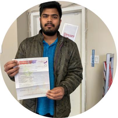 Ravi Teja - Student permit approval at Admission Hub